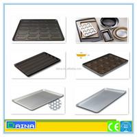 custom made cake pan aluminium teflon coated baking tray/ non stick tray