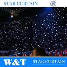 Colorful led curtain stage decorations for hotel banqueting halls
