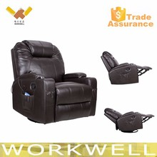 WorkWell best selling cheers pu leather sofa recliner vibration massage sofa armchair Kw-FU13