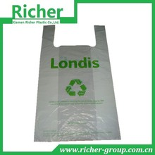 Recycled reusable t-shirt plastic bag shopping bag