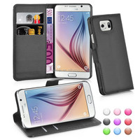 pu lichee leather case cover for samsung galaxy s6
