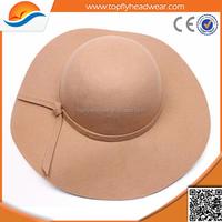 Felt fedora women's hat new style fashion hat felt fedora women's hat