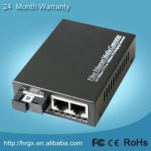 Excellent OEM services 10/100M fiber to 2 ethernet 1310nm media converter