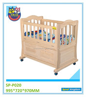 Pine wood materia baby cribs/baby cradle/baby bed#SP-P020