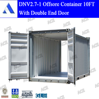 DNV2.7-1 10ft offshore double door container shipping to Malaysia