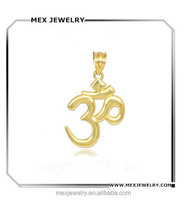 Wholesale Solid 14k Gold Plated Hindu Meditation Yoga Charms For Pendant Bracelet