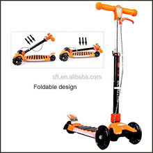 Folding style double rear wheel kick scooter