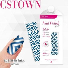 Wholesale 100% Real Nail Polish Strips and Nail Polish Sticker Type