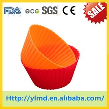 7cm color silicone cake mold puff muffin cup jelly mold