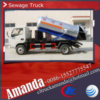 Dongfeng 4*2 95hp mini small used septic tank trucks 3cbm septic truck for sale