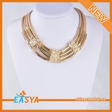 2014 mulheres couro cobre colar colar