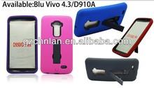Hot Sale kickstand 2 in 1 pc silicone combo case for Blu Vivo 4.3
