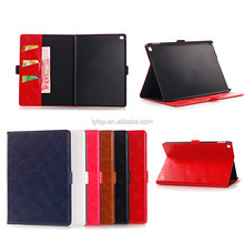 Luxury Crazy Horse Gain for Apple iPad Pro Leather Stand Cover Case Card Holder Tab Shell