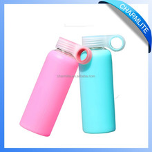 Silicone Water Bottle, High Temperature Resistant Pyrex Drinking Glass CL-SG001 380ml