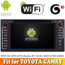 Android 4.4 system car dvd radio gps navigation fit for TOYOTA CAMRY 2002 - 2006 WITH CHIPSET WIFI 3G INTERNET DVR OBD2 SUPPORT