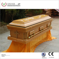casket cart solid wood casket