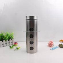 Glass canister set with metal coating tea coffee sugar jar