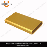 Golden Anodizing Extruded Aluminum WIFI Ethernet HDD Enclosure Project Box W52 X H13 MM