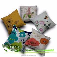 Hold pillowcase Red poppy butterfly Dandelion Pink roses sofa cushion cover 45cm*45cm linen wedding decor