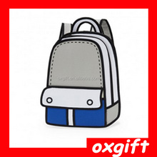 OXGIFT 2D and 3D Cartoon Backpack