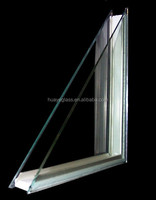 8mm low e +12mm warm edge +8mm low e Large Clear flat and curved Insulated Glass Panels for insulated window glass