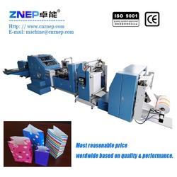 ZD-F290 Supermarket Automatic Roll Feeding Block-Bottom Small Present Kraft Paper Bag Machinery Manufactuturer