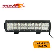 high quality 12 inch cree led light bar 72w