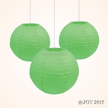 "Apple Green Round Paper Lantern sizes 3""-36"" for Christmas Baby Shower Wedding Themed Party Shopping Mall Home Garden Decoration"