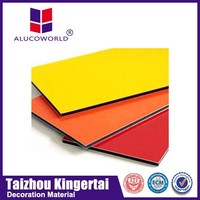 Alucoworld Wall Material digital uv printing acp sheets aluminum composite panel(acp)