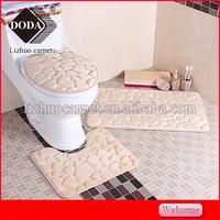 home decor 3D emboss flannel bath mat flannel waterproof anti slip 3D memory foam bath mat
