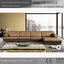 Special new coming leather apartment teal sofa