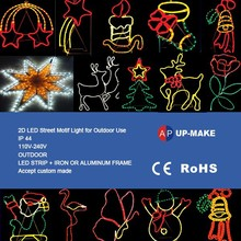 new style led christmas snowflake light Christmas led street light,high quality decorative rope light motif