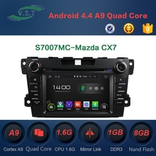 7'' HD 1024*600 Android 4.4 Car Dvd player With Gps Navi for Mazda CX7 RDS,OBD,Mirror Link,AUX IN,3G, WIFI Dongle