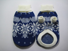 pet sweater/pet clothes with snow print