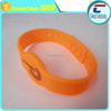Custom printing logo iso14443a protocol chips available nfc adjustable silicone wristband
