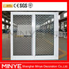 Metal mesh sliding window with double tempered glass/aluminum sliding mesh window/metal mesh window