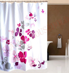flower design shower curtains polyester waterproof shower curtain