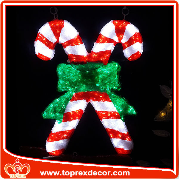 Hot Outdoor Candy Cane Light Christmas Decoration - Buy ...