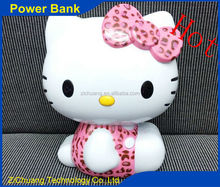 2015 newest Best quality polymer battery hello kitty 11000mah portable power bank