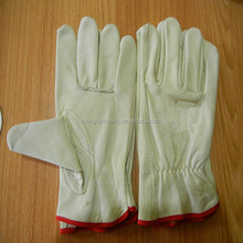 Yellow cow grain truck driver gloves / Golden yellow cow leather driver work gloves