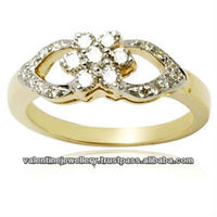 pave setting diamond ring, casting diamond gold jewelry rings, fine finished and polished diamond ring design