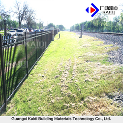 Powder Coated Galvanized Steel Cheap Metal Fence Panels