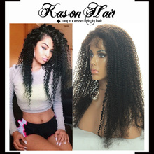 Virgin Peruvian Hair Lace Wig Afro Kinky Curly Lace Front Wig Virgin Hair Lace Front Wigs For Black Women