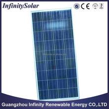 2015 Hot sell Laminated 12v/24v 150W poly solar panel