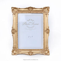 Souvenir resin gold photo/picture frames for sale