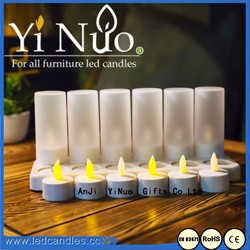 12L Mini tealight candle with glass cup with Recharge battery