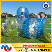 Hot!!pvc/tpu sale popular inflatable games zorbing bumper ball for kids