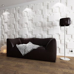 Plant fiber 3d effect artificial interior wall stone decorative removable wallpaper for home