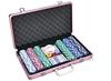 300pcs cheap aluminum game poker chip set aluminum poker set with 11.5g poker chip