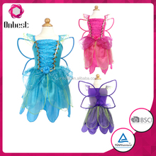 wholesale best price elsa costume girls fairy dresses with wings fairy dresses